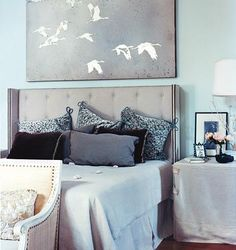 that artwork above the bed