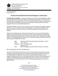 Press release for the Health and Home Care Society of BC