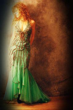 Vintage Stunning Mermaid Goddess Bombshell Beaded by MajikHorse, $125.00