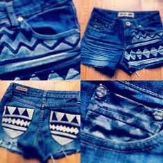 DIY Aztec shorts :) adding to the to do list for summer