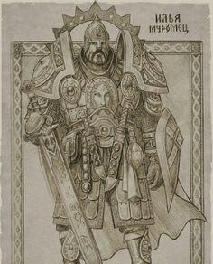 Slavic mythology/tales of old Kievan Rus/ Ukraine- Ilja/Ilya Muromets, knight/hero