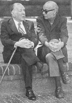 Borges todo el año: Jorge Luis Borges-Ernesto Sabato: Diálogos -Textos: Alfredo Serra Fotografías: Eduardo Forte/Juan José Pérez