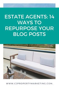 So you've written a blog post, now what? This post will show estate agents 14 ways they can repurpose their blog posts to get the most out of their efforts and help attract instructions. Marketing Tactics, Marketing Plan, Real Estate Marketing, Content Marketing, Real Estate Business, Real Estate Tips, Starting A Podcast, Instagram Marketing Tips, Estate Agents