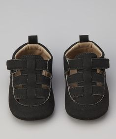 Take a look at this Rugged Bear Black T-Strap Sandal by Rugged Bear on #zulily today!