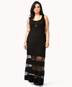 Lace Paneled Maxi Dress | FOREVER21 PLUS - 2040912087