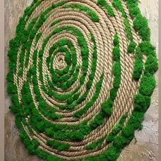 Jute Crafts, Decor Crafts, Diy Home Decor, Moss Wall Art, Moss Art, Moss Decor, Fleur Design, Coffee Crafts, Home Room Design