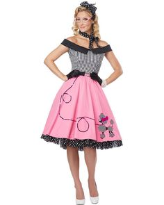 Nifty 50s Womens Costume