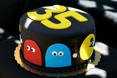 "Photo 5 of Pac Man / Birthday ""Billy's Surprise Party"" Cupcake Birthday Cake, Birthday Cakes For Men, Cakes For Boys, Man Birthday, Cupcake Cakes, Birthday Ideas, Cupcakes, Gorgeous Cakes, Amazing Cakes"