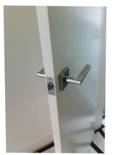 BRAND NEW SQUARE 304 STAINLESS STEEL INTERNAL DOOR HANDLE BRUSHED SILVER FINISH