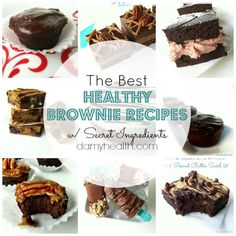 The Best Healthy Brownie Recipe with Secret Ingredients. For many brownies are the perfect treat. They are dense, sweet and comforting. Here you will find a range of brownie recipes. These recipes are a variety of raw, vegan and gluten free but all are made with whole-natural ingredients to create healthy brownies.