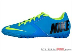 Nike FC247 Bomba II Turf Soccer Shoes - Current Blue with Volt...$53.99