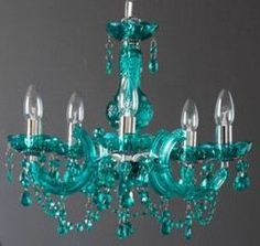 Turquoise Crystal Chandelier Lighting - Bing images