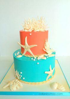 Ocean Inspired Birthday Cake on Cake Central More