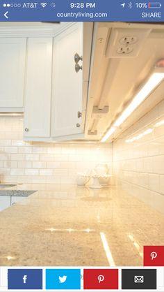 Under counter plug ins & lights