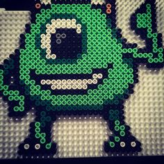 Mike Monsters Inc. perler beads by aslaugsvava