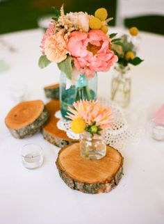 Large Rustic Wood Wedding decorations tree slices by deaandbean, $5.00