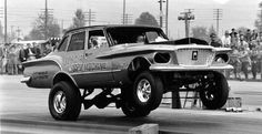 Just A Car Guy : What is old school? Pinups and drag racing. Cool Old Cars, Old Race Cars, Rat Rods, Chrysler Valiant, Nhra Drag Racing, Auto Racing, Vintage Race Car, Drag Cars, Car Humor