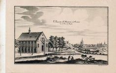gravure L EGLISE DE L HOSPITAL DE SAINT LOUIS. hors la porte du temple…