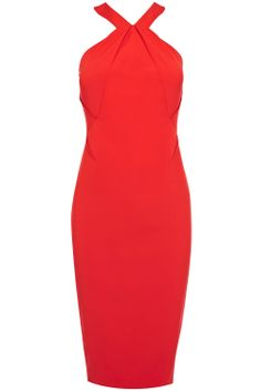 This is the fun and modern twist on your classic shift dress. Made with complicated darting and perfectly cut, the Gina Dress is a beautifully unique shape with modest and flattering unusually shaped neckline. With a stunning architectural style to it, this dress needs contemporary accessories in metals and plastics to really emphasise the look. Adding to the dramatic edge this glamorous dress is closed with a eye catching exposed back zip.