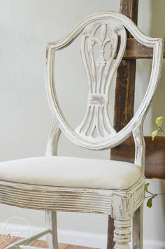See how paint can transform a trash to treasure yard sale chair.  | www.andersonandgrant.com
