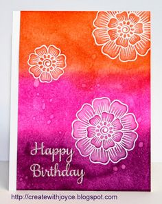 I sent this bright birthday card  out for my friend's early July birthday and she loved it! I thought I would make another birthday card us...