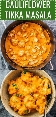 A fabulous Indian curry with oven roasted cauliflower and a spicy creamy tomato . - FOODA fabulous Indian curry with oven roasted cauliflower and a spicy creamy tomato based sauce. It tastes like a vegetarian tikka masala. It's an easy and healthy Vegetarian Recipes Dinner, Vegan Recipes, Cooking Recipes, Cooking Tips, Healthy Vegetarian Dinner Recipes, Keto Indian Food, Free Recipes, Easy Vegetarian Curry, Healthy Cooking
