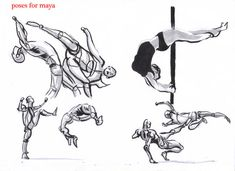 fighting poses for maya04 by AlexBaxtheDarkSide