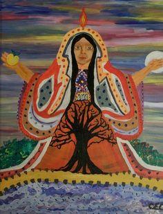 Sacred Feminine Painting - Sacred Feminine Fine Art Print - Carolyn Cable
