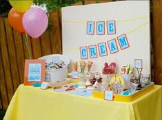 ICE CREAM SOCIAL Birthday Party Printable Collection from The Celebration Shoppe