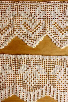 This is an interesting and nice stitch pattern: the Chevron Retro Stitch Wave Crochet pattern which I'm sure you guys would like to know how it is done. Filet Crochet, Col Crochet, Crochet Diy, Crochet Borders, Crochet Stitches Patterns, Crochet Home, Thread Crochet, Crochet Motif, Vintage Crochet