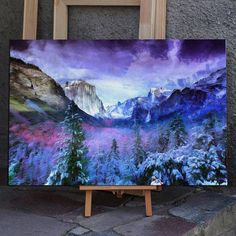 Travel US with me Large Painting, Diy Painting, Painting & Drawing, Cool Paintings, Cool Artwork, Landscape Paintings, Guache, Usa Tumblr, Mountain Paintings