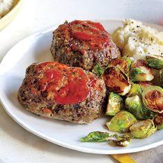 Whole-Grain Mini Meat Loaves | CookingLight.com #myplate #protein #wholegrain