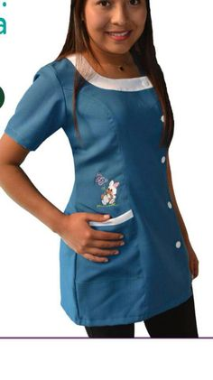 Delantal Scrubs Uniform, Medical Scrubs, Dress Patterns, Tunic Tops, Womens Fashion, How To Wear, Outfits, Clothes, Mary