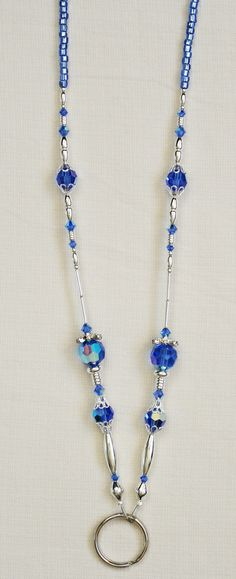 BEADED lanyards and badge holders | Details about BEADED LANYARD BADGE HOLDER SW004 - Swarovski Crystal