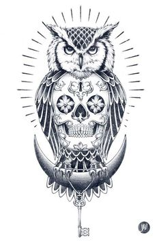 Blk Owl by JAVI, via Behance