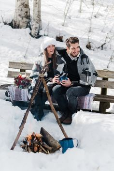 Alpine Snowy Engagement at the Vermion Mountains, no, not Vermont from the Sates, but close enough! What better than to enjoy this snowy hygge love story? Winter Engagement, Engagement Session, Baby Strollers, Mountains, Baby Prams, Prams, Strollers, Bergen