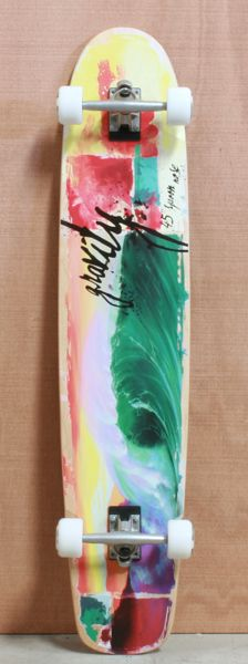 """Gravity 45"""" Tropical Splash Longboard Complete @Kailey Spence Spence Spence Jones this is cool!"""