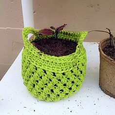 Ravelry: small 4 inch planter pattern by Hello Happy