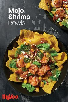 Crunchy spicy shrimp bowls are the perfect afternoon lunch for a pick-me-up.