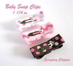 Baby Hair Bow Clips