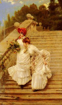 The Rendezvous, Vittorio Corcos (1859 1933)