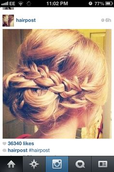 @Samantha @This Home Sweet Home Blog Horne can my hair do this? haha! for amandas wedding of course!
