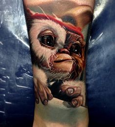 Nikko did this Gizmo tattoo on me on Wednesday super stoked can't wait to do my whole leg sleeve of different movies as a child that I used to love.