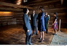 First Lady Michelle Obama views The Slave Pen exhibit while touring the National Underground Railroad Freedom Center in Cincinnati, Ohio, Feb. American Alphabet, Barack Obama Family, American First Ladies, Underground Railroad, New Museum, My Favorite Image, Law School, Michelle Obama, Business Women