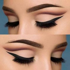 10 Hottest Eye Makeup Looks – Makeup Trends: Natural Smokey Eye with Thick Eyeliner Cut Crease Eyeshadow, Blending Eyeshadow, Eyeshadow Makeup, Neutral Eyeshadow, Makeup Brushes, Eyeliner Makeup, Eyeshadow Palette, Mac Makeup, Shimmer Eyeshadow