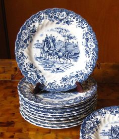 Johnson Brothers China Coaching Scenes Bread by MoseleyAndStokes, $49.95