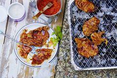 Das Rezept für Minutenschnitzel mit Paprikamarinade mit allen nötigen Zutaten und der einfachsten Zubereitung - gesund kochen mit FIT FOR FUN