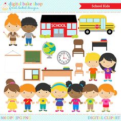 back to school clip art and blacklines personal and commercial use rh pinterest com digital clipart for teachers Teacher Christmas Clip Art