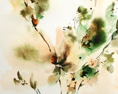 Abstract Watercolor Painting Passionate Ensemble di CanotStop