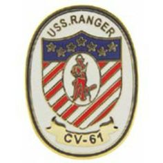 "U.S. Navy USS Ranger CV-61 Emblem Pin 1"" by FindingKing. $8.99. This is a new U.S. Navy USS Ranger CV-61 Emblem Pin 1"""